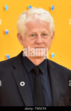 Richard Curtis attends the UK Premiere of 'Yesterday' at the Odeon Luxe in Leicester Square, London, England. - Stock Image