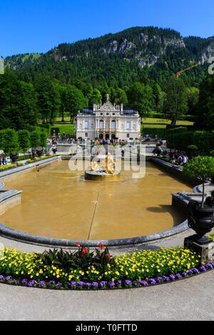 Schloss Linderhof, Munich, Bavaria, Germany - Stock Image