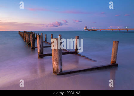 Evening beach in Zingst - Stock Image