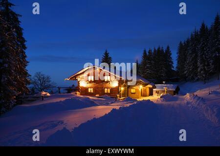 Mountain refuge, Ammergau Alps, Allgaeu, Bavaria, Germany, Europe - Stock Image