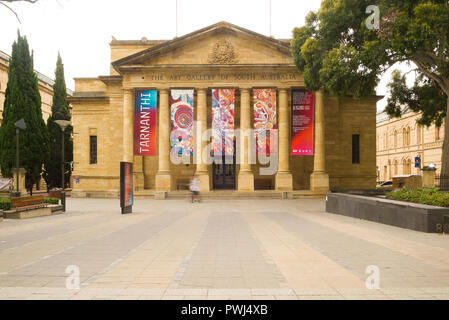 View of the entrance of the Art Gallery of South Australia in Adelaide, Australia. - Stock Image