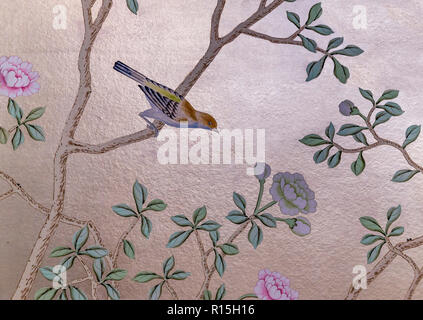 Wall Paper pattern, Lady Lever Art Gallery, Port Sunlight, Liverpool, England, UK, Europe - Stock Image