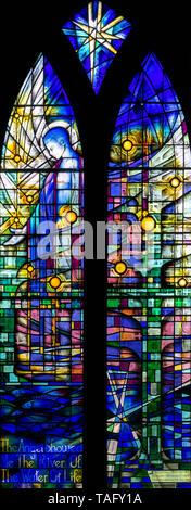 Revelation 22, 'The river of life', St Thomas' Church, Glaisdale, North York Moors, Yorkshire, UK - Stock Image