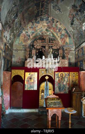 Montenegro, Herzeg-Novi am Eingang der Bucht von Kotor, serbisch-orthodoxes Kloster Savina, die kleinere, reich mit Fresken ausgeschmückte Kirche aus  - Stock Image