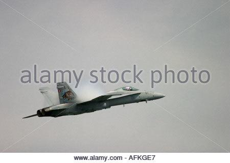 Zeltweg 2005 AirPower 05 airshow Austria McDonnell Douglas F A 18C Hornet F18 A18 - Stock Image