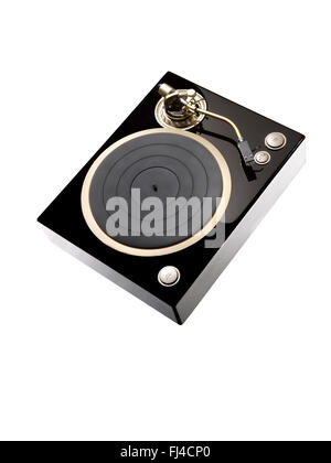 A cut out shot of a modern record player - Stock Image