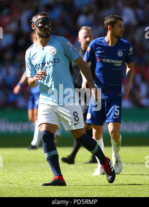 Ilkay Gundogan of Manchester City during the FA Community Shield match between Chelsea and Manchester City at Wembley Stadium in London. 05 Aug 2018 - Stock Image
