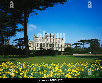 Elvaston Castle in spring, near Derby, Derbyshire, England - Stock Image