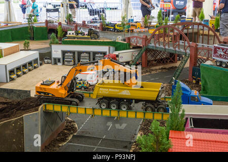 Radio control model truck layout at Wings And Wheels - Stock Image