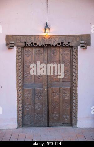 Argentina, Catamarca Province, Hualfin, church door - Stock Image
