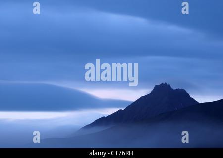 peak of Malaya Udina volcano on Kamchatka - Stock Image