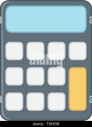 Calculator design, Tool mathematics finance device electronic and education theme Vector illustration - Stock Image