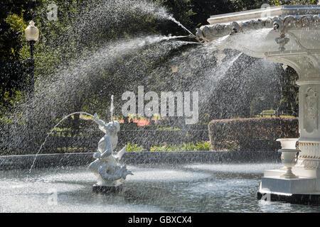 Close up of Fountain in Forsyth Park, Savannah, GA, USA - Stock Image