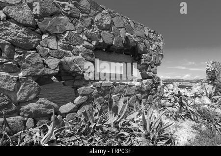 Fortezza Bastiani fortification Caprera Island Sardinia Italy - Stock Image