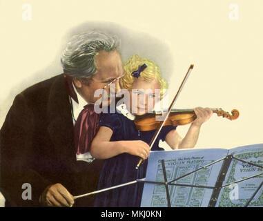 Violin Teacher - Stock Image