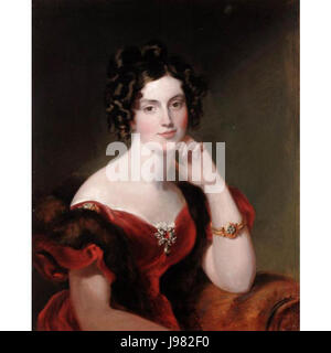 PORTRAIT OF LADY ELIZABETH HARCOURT 1840 - Stock Image