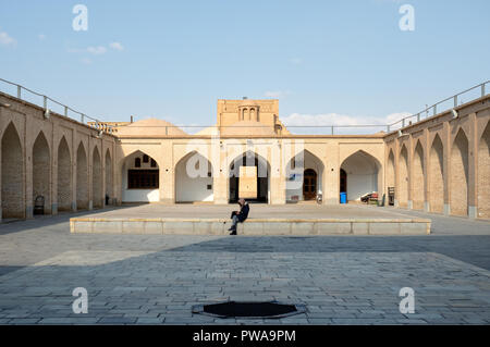 Jameh mosque courtyard, Yazd, Iran - Stock Image