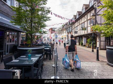 A view of Peascod Street in Windsor, Berkshire, UK. - Stock Image