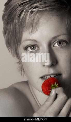 Strawberry Blonde - Stock Image