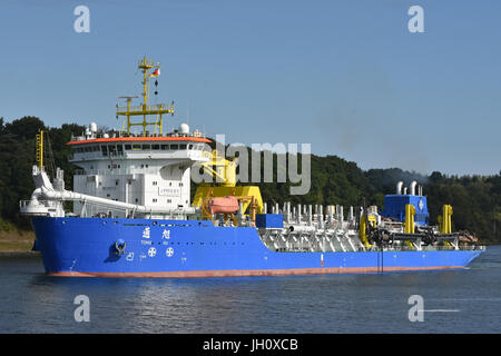 Chinese Hopperdredger Tong Xu - Stock Image