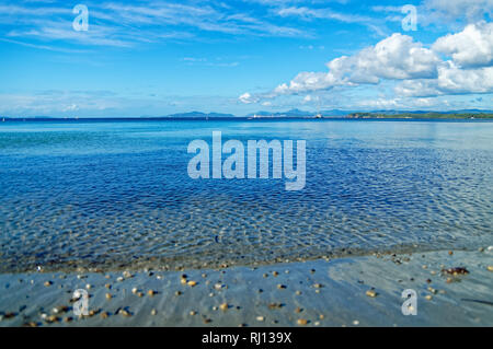 Clear and calm water of Mediterranean sea in French Riviera - Stock Image