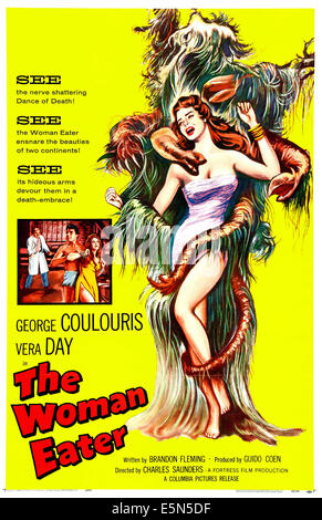 THE WOMAN EATER, (aka THE WOMANEATER), US poster art, 1958. - Stock Image