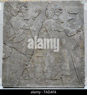Babylonian ancient high-relief, Altes Museum, Berlin - Stock Image