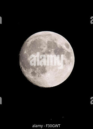 full  moon  oct  2015 - Stock Image