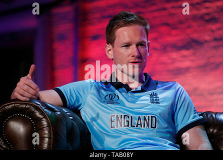 England's Eoin Morgan during the Cricket World Cup captain's launch event at The Film Shed, London. - Stock Image