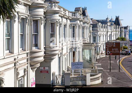 The Royal Bath Hotel at Bournemouth, Dorset UK in July - Stock Image