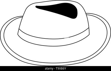 Hat design, Cloth costume accessory wear decoration uniform and object theme Vector illustration - Stock Image