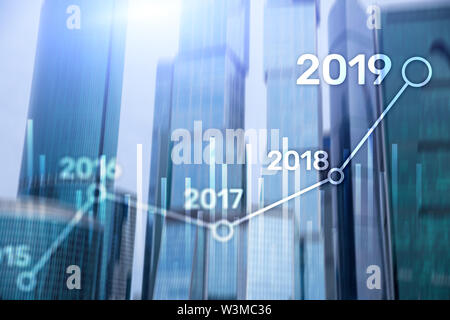 2019 Plan for Financial growth. Business and investment concept. - Stock Image