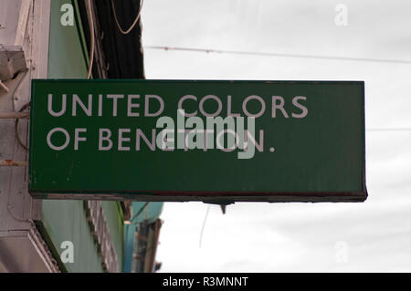 United Colours Of Benetton Sign - Stock Image