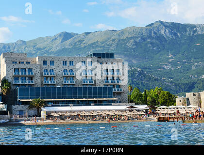 The Avala hotel & Casino in Budva. - Stock Image