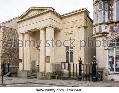 Crane Street Baptist Chapel, Pontypool, Torfaen, Gwent, Wales, UK, a Grade II listed chapel built in 1847 in a Greek architectural style. - Stock Image