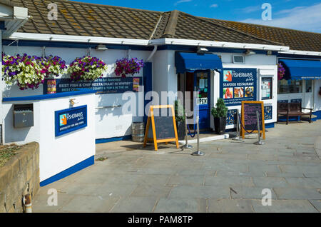The Fisherman's Wife Fish and Chip restaurant  Khyber Pass Whitby England UK - Stock Image