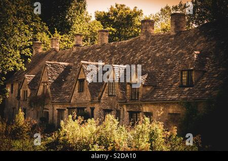 Cotswold cottages - Stock Image