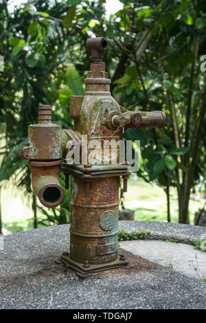 Water pump junction in a public park - Stock Image