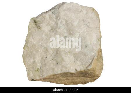 Carbonatite with apatite (green) - Stock Image