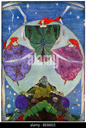 Harry Clarke Art Nouveau Print Illustration Fairy Tales from Hans Andersen first  by Coker & Co 1919 from the - Stock Image