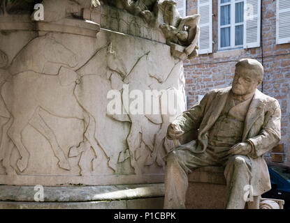 Memorial statue to Étienne-Jules Marey French scientist physiologist and chronophotographer in Beaune Burgundy France - Stock Image