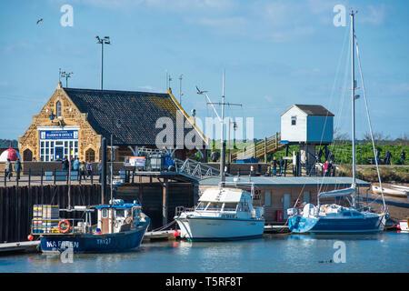 Wells next the Sea, Harbour Office, Norfolk, England, UK, English North Sea coastal port and resort. - Stock Image