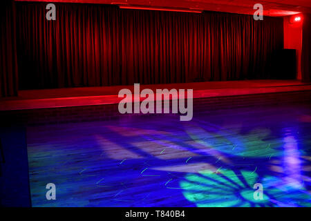 Dance floor and stage for use as background image for your copy - Stock Image