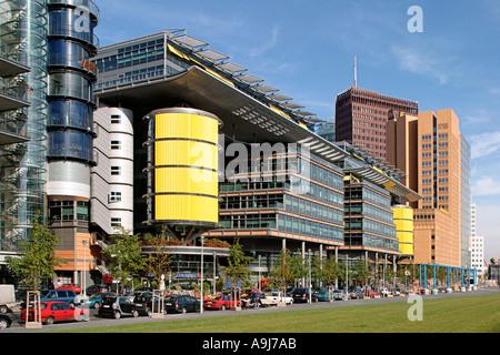 Berlin Mitte Potsdamer Platz Daimer Chrysler Areal modern architekture by Renzo Piano Debis and Richard Rogers - Stock Image