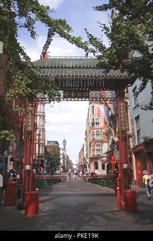 Chinatown Macclesfield Street Soho London - Stock Image