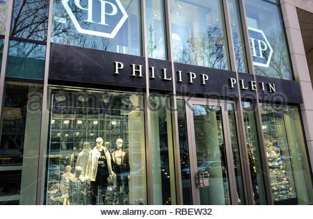 Philipp Plein store - Stock Image