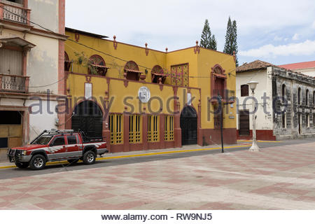 The Palacio Episcopal was designed by Marcelo Targa and one of the first buildings to display Leonese neoclassical architecture. - Stock Image