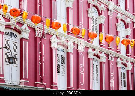 Street view, Chinatown district, Singapore - Stock Image