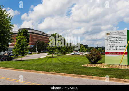 CONOVER, NC, USA-22 JUNE 18: Catawba Valley Medical Center is Catawba county's largest non-profit community hospital, - Stock Image