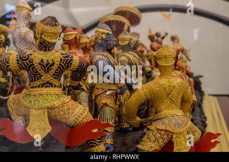 battle scene of thai mythology - Stock Image